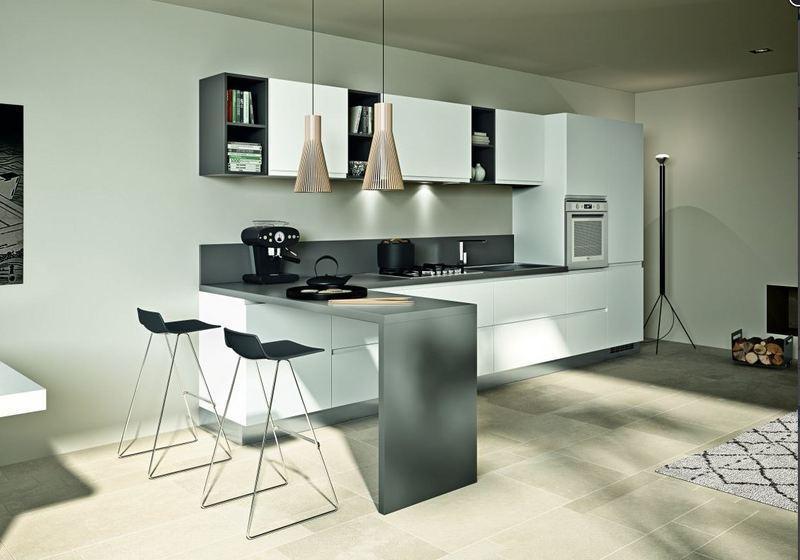 Cucina moderna Fusion bianco azienda Essebi