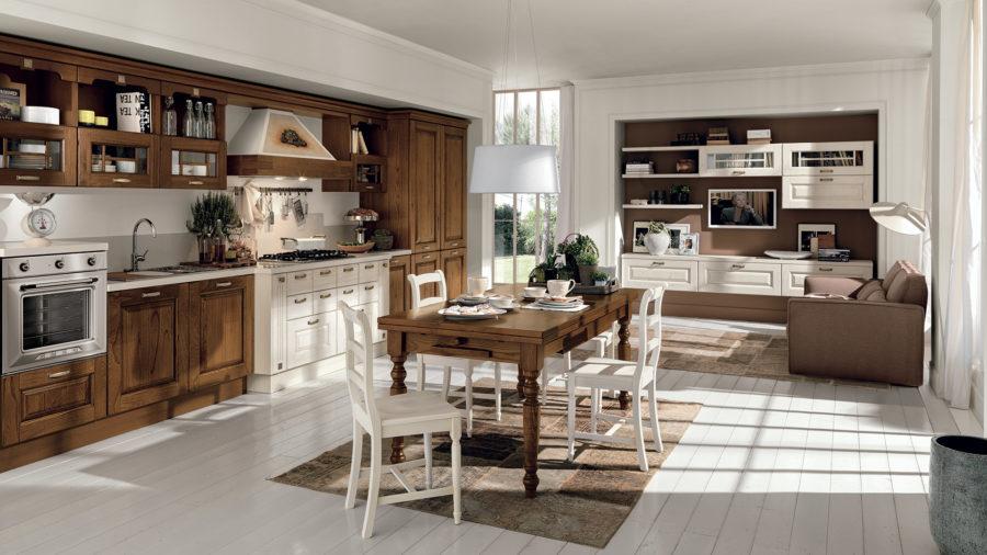 cucina classica curata nelle finiture e nei dettagli