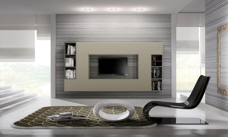 Parete attrezzata per soggiorno futuristico azienda Orme